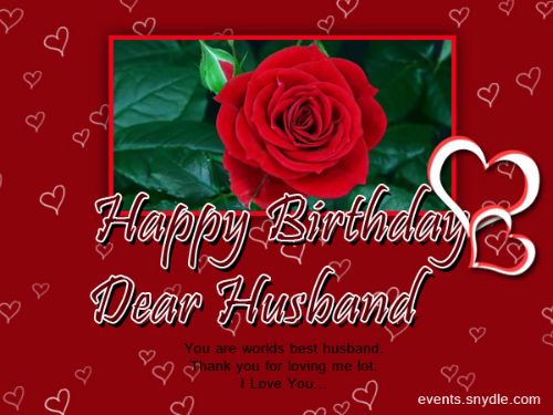 Dear Husband You Are The Best Happy Birthday I Love You