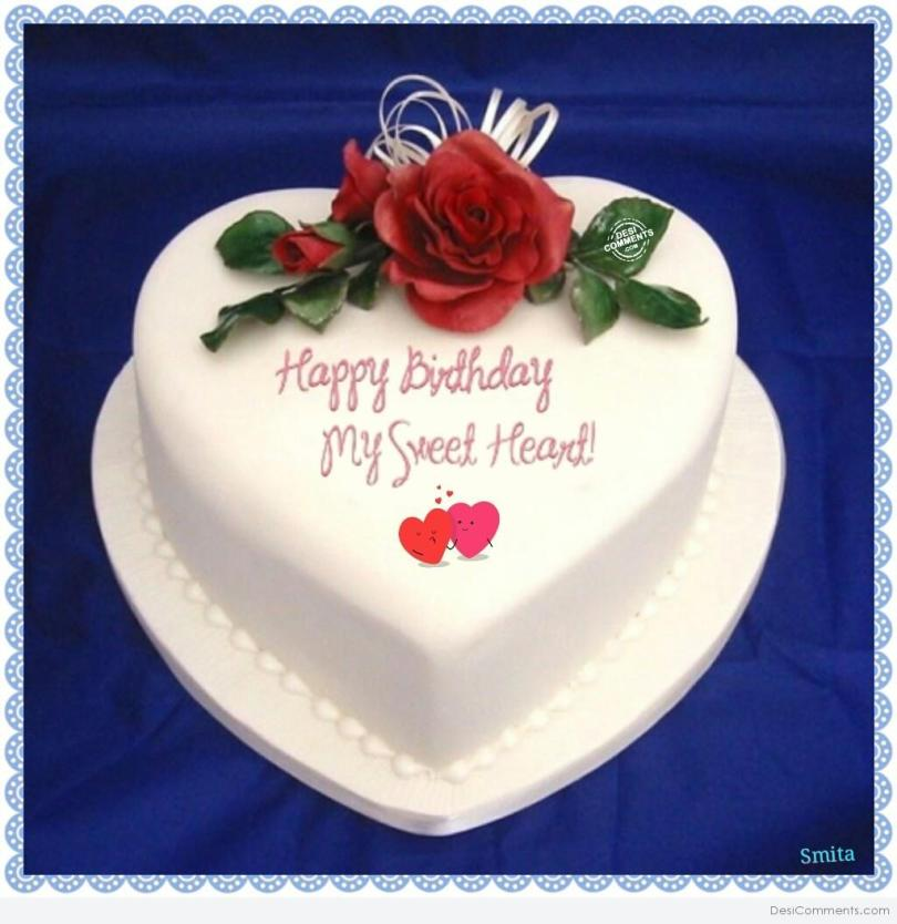Delicious Cake Greeting Image To My Sweetheart