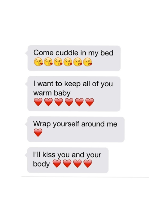 Emoji Quotes Come cuddle in my bed i want to keep all of you warm baby wrap yourself around me
