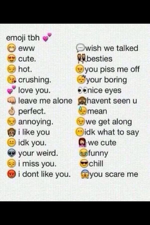 Emoji Quotes Emoji tbh eww cute hot crushing love you leave me alone perfect annoying