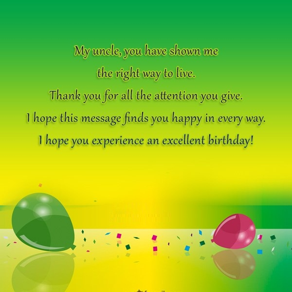 Excellent Birthday My Uncle Great Quotes