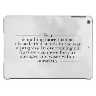 FFA Quotes Fear is nothing more than a obstacle that stands in the way of progress