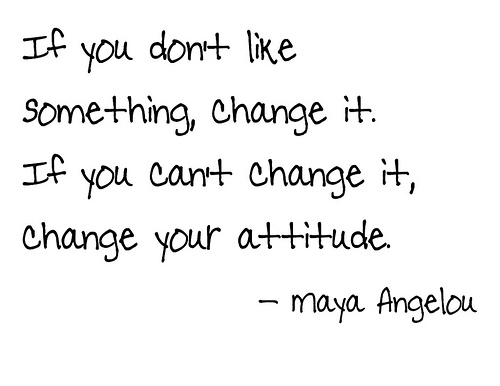 FFA Quotes If you don't like something, change it if you can't change it, change your attitude Maya Angelou