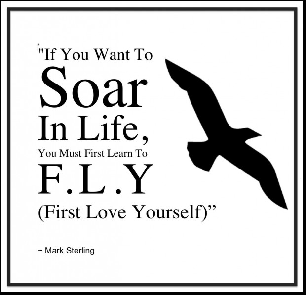 FFA Quotes If you want to soar in life you must first learn to fly first love yourself Mark Sterling