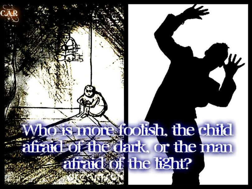 FFA Quotes Who is more foolish the child afraid of the dark or the man
