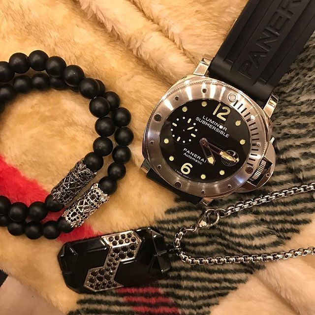 Fabulous Collection Of Black Bracelet Watch And Dog Tag