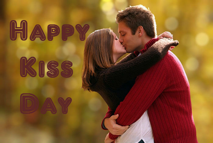 Fantastic Happy Kiss Day Greeting Wallpaper