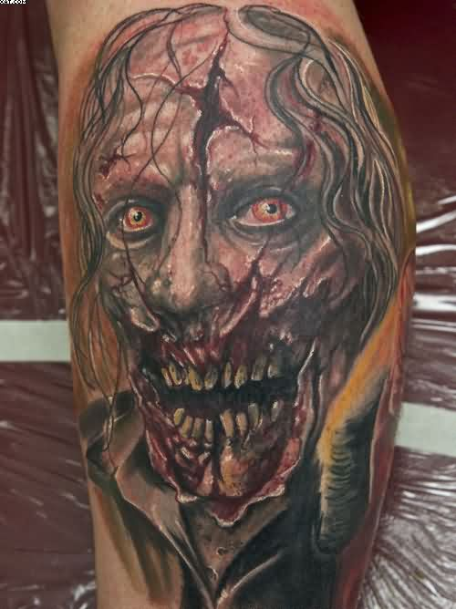 Fantastic Zombie Man Tattoo