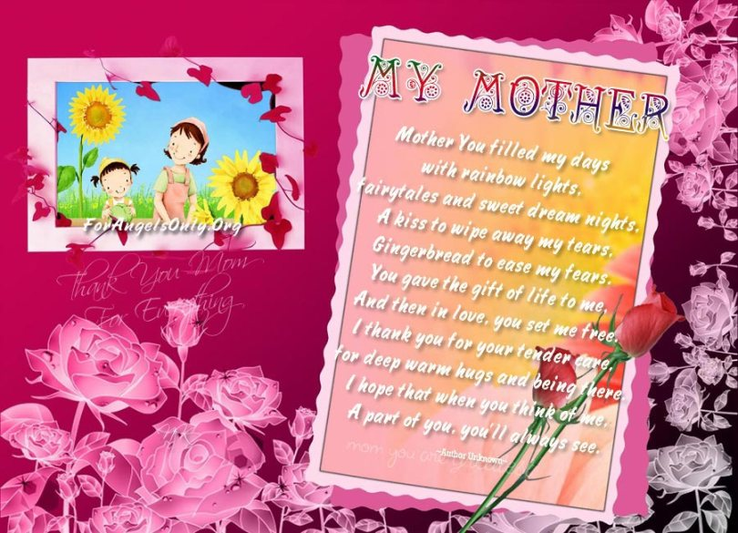 For Angel Mom Mothers Day Wishes Poem