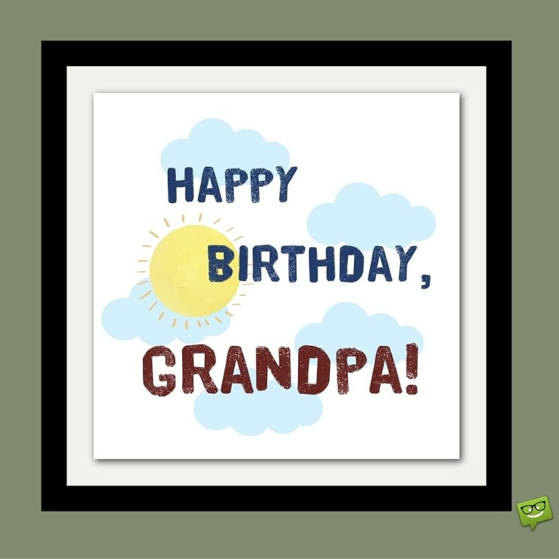 For My Best Grandpa Happy Birthday Wishes Image