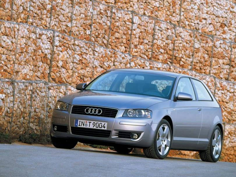 Front side of silver Audi A3 car