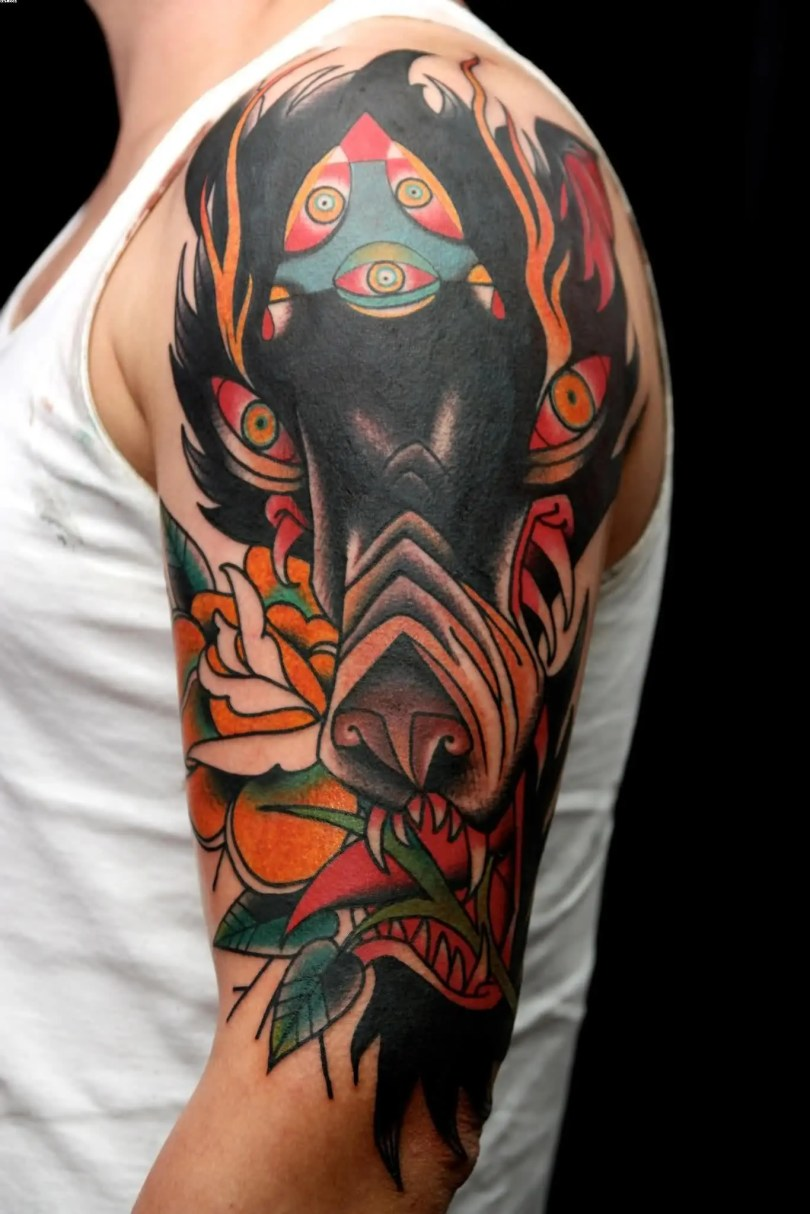 Full Sleeve Incredibal Wolf Tattoos