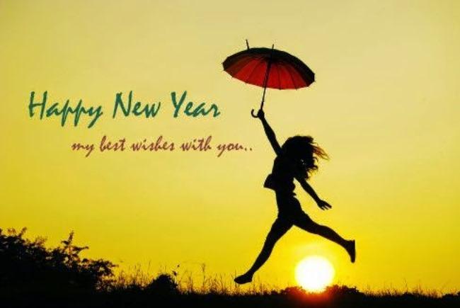 Girlfriend Happy New Year Greeting Image