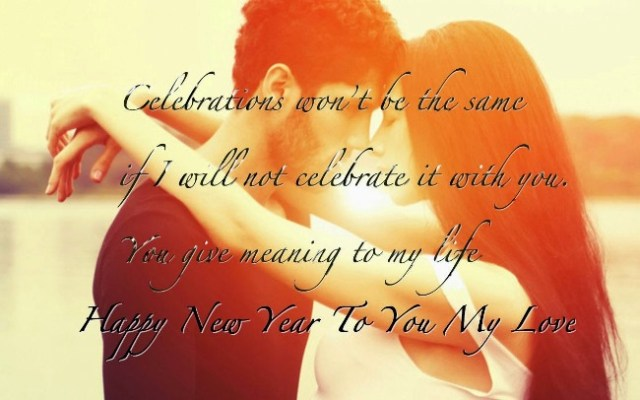 Girlfriend Happy New Year Wishes Message Image