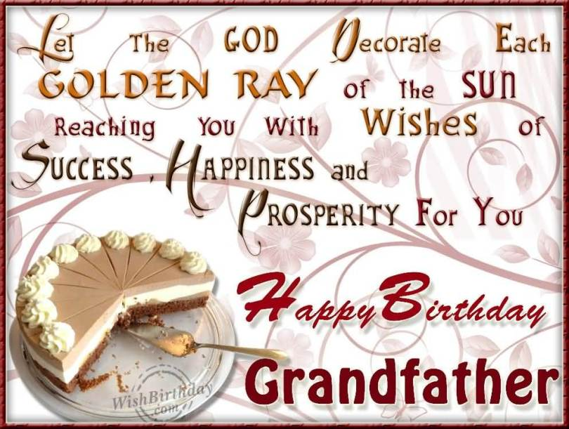 God Bless Grandpa Wish You A Very Happy Birthday