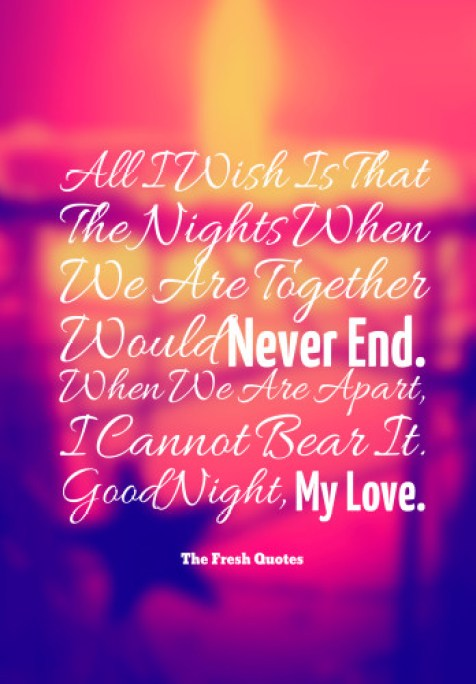 Good Night My Love Wishes Message Image