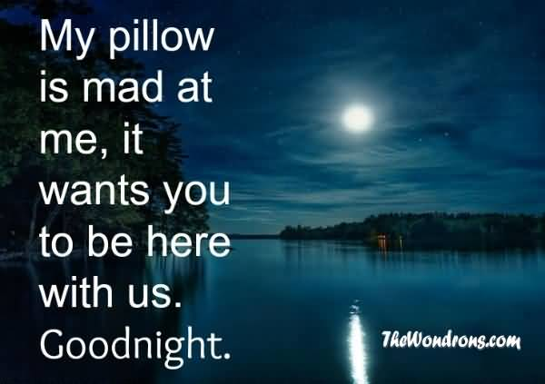 Goodnight Moon Quotes My pillow is mad at me it wants you to be here