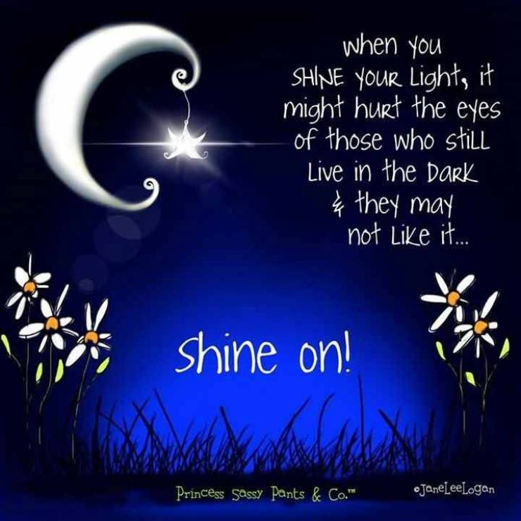 Goodnight Moon Quotes When you shine your light it might hurt the eyes of those who still live