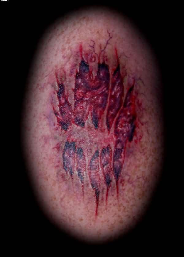 Great Zombie Bite Tattoo Image