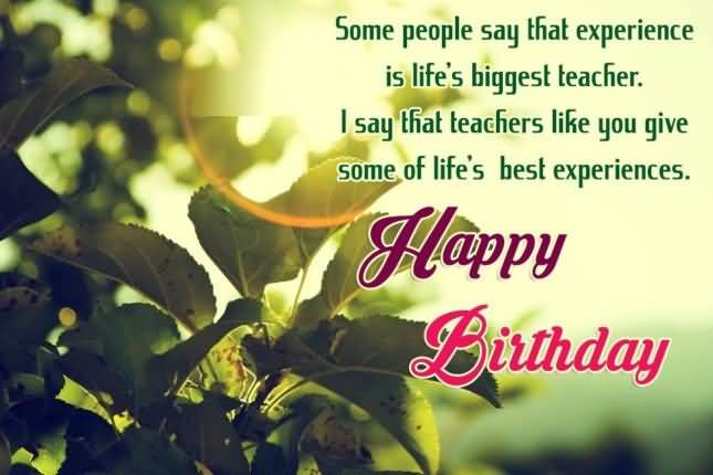 Greeting Of Happy Birthday To Best Principal Sir With Quotes Image