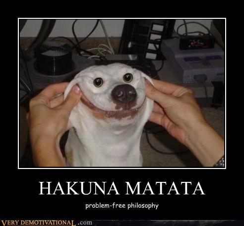 Hakuna Matata Problem Fre Philosophy Hilarious WTF Meme