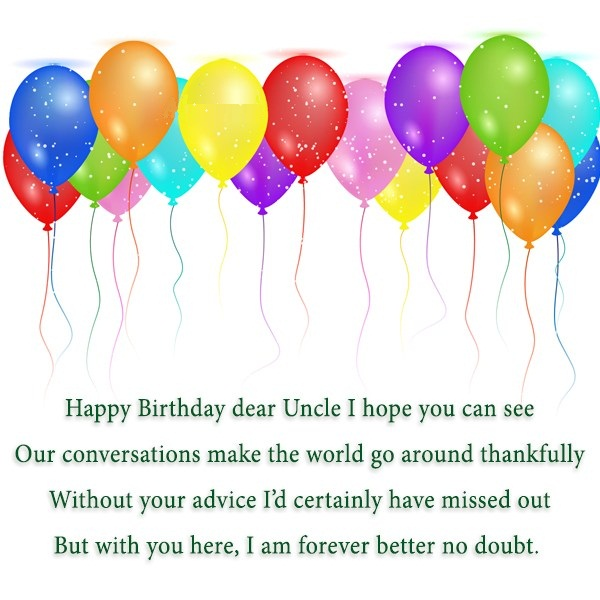 Happy Birthday Dear Uncle I Hope You Can See Our Conversation Greetings