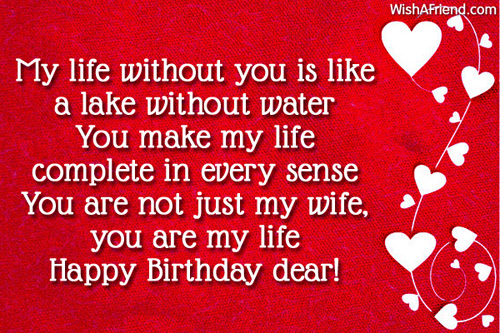 Happy Birthday Dear Wife Greeting Quotes Image