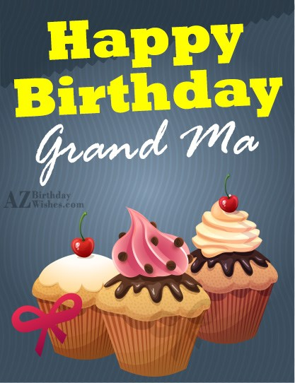 Happy Birthday Grandma Love A Lots Greeting Card Image