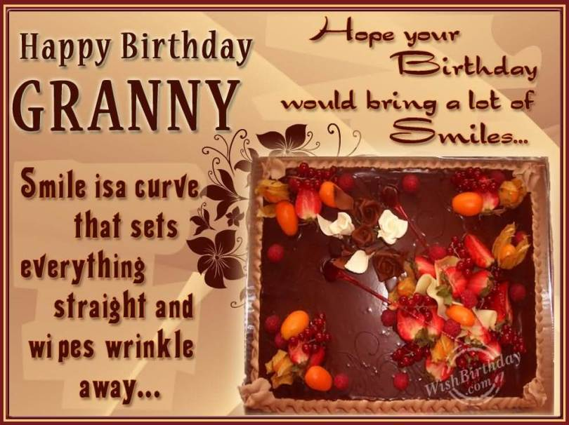 Happy Birthday Granny Wipe Wrinkle Away