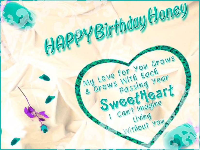 Happy Birthday Honey With Love Greeting Picture