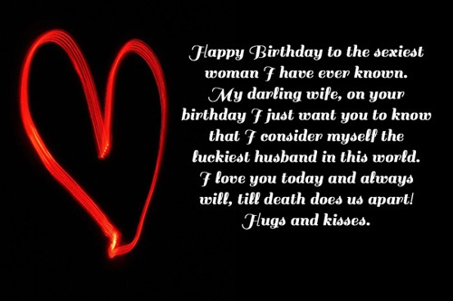 Happy Birthday My Darling Wife On Your Birthday Quotes Image