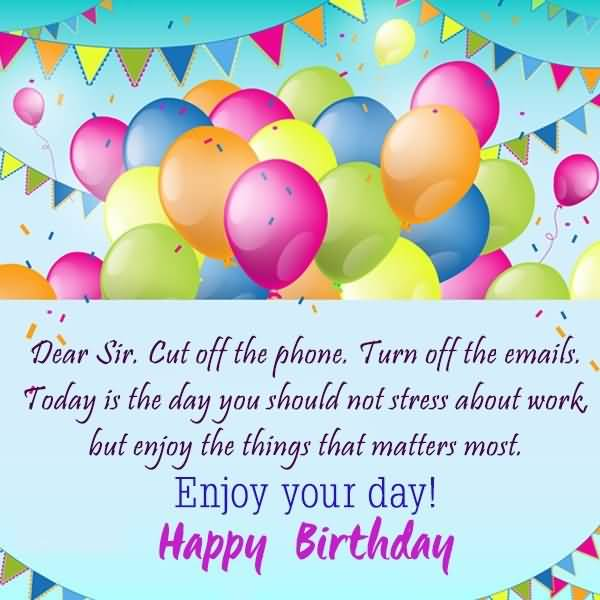 Happy Birthday Sir Greeting Poem On Birthday Image