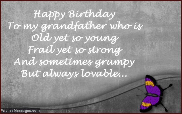 Happy Birthday To My Grandfather Wishes Image