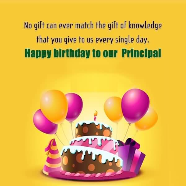 Happy Birthday To Our Principal Wishes Image