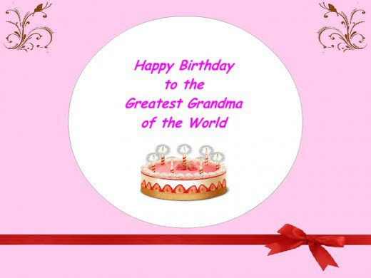 Happy Birthday To The Greatest Grandma Of The World Greeting Card Image