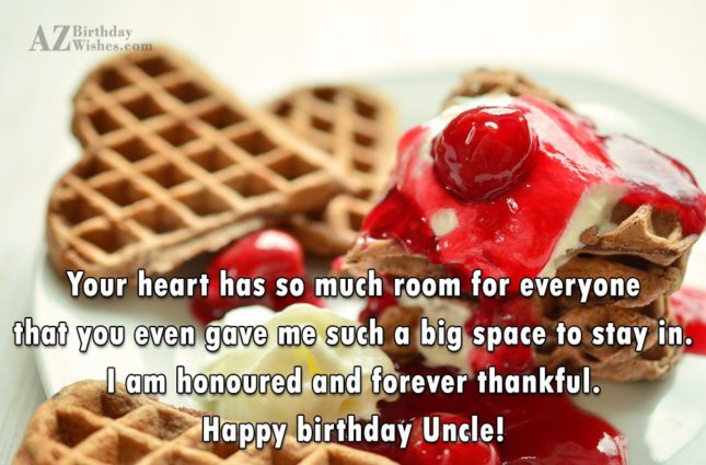 Happy Birthday Uncle Beautiful Message Image