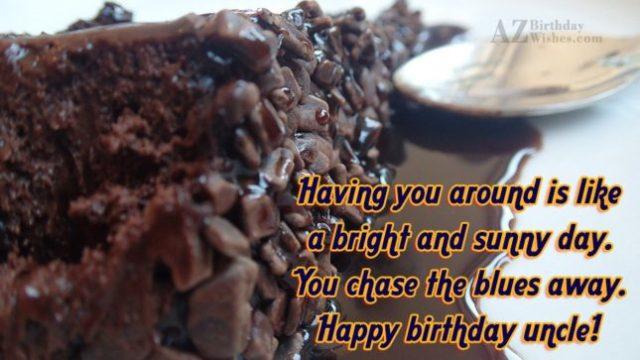 Happy Birthday Uncle Celebration Wishes Image