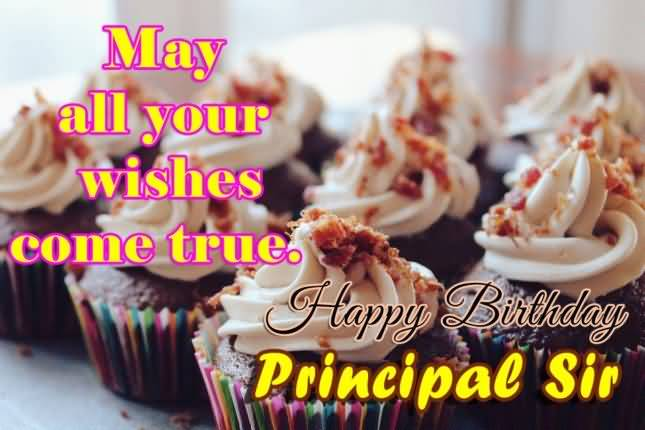 Happy Birthday Wishes For Principal Sir With Salacious Cupcake Image