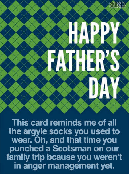 Happy Father's Day This Card Reminds Me Of All The Argyle Socks