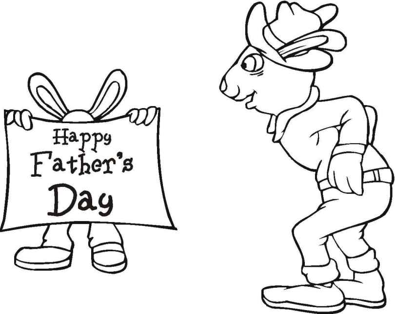 Happy Father's Day Without Color Image