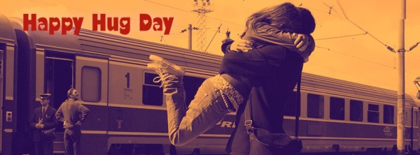 Happy Hug Facebook Cover Image
