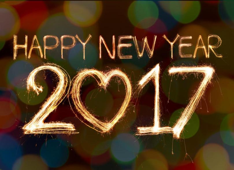 Happy New Year 2017 Sparkle Wishes Image