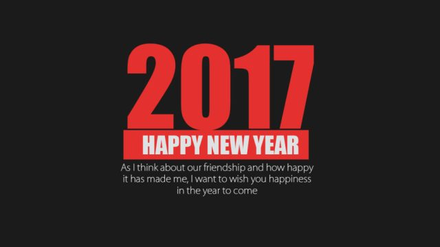 Happy New Year 2017 Wishes Message Wallpaper