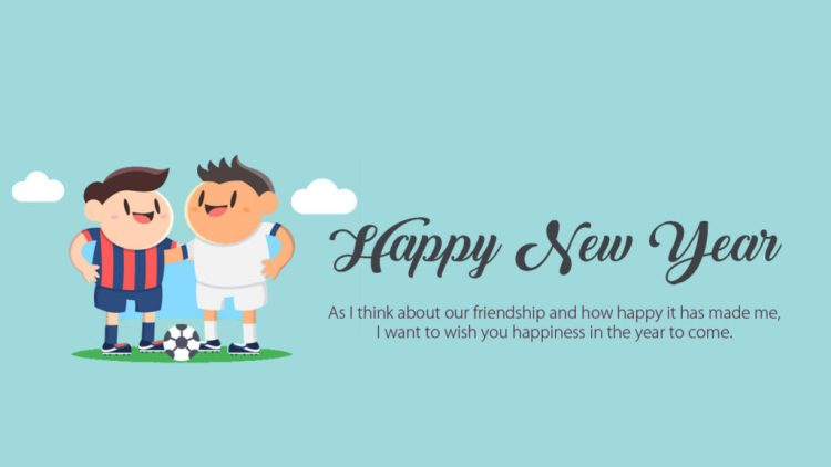 Happy New Year About Our Friendship Wishes Image