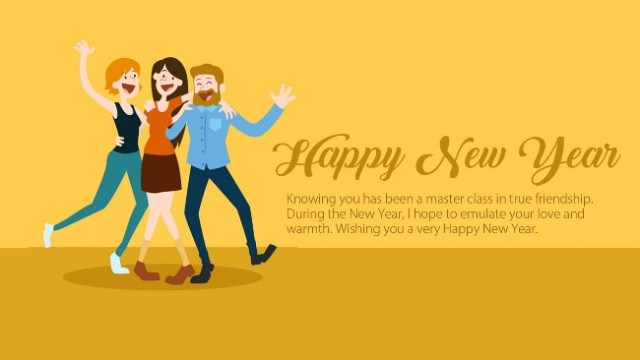 Happy New Year For Friendship Image
