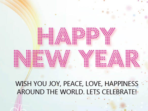 Happy New Year Lovely Message Image
