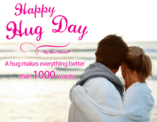 Have A Wonderful Hug Day I Love You Wishes Image