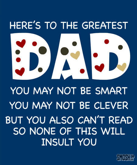 Here's To The Greatest Dad Happy Father's Day Poem Image