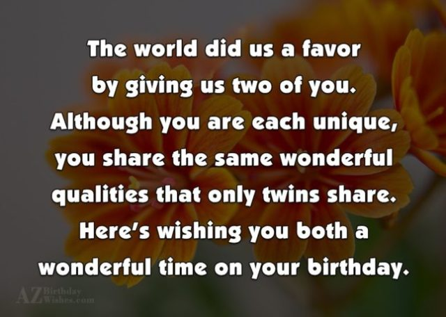 Here's Wishing You Both A Wonderful Time On Your Birthday Image