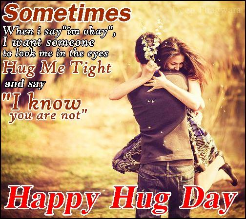 Hug My Tight Happy Hug Day Quotes Image